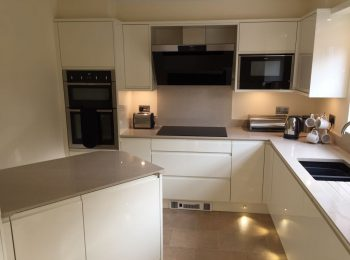 Remo Alabaster and Silestone Crema Worktops